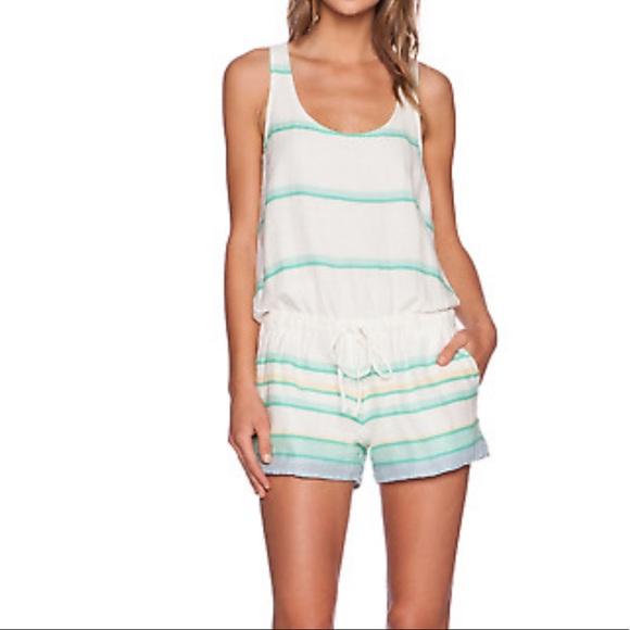 Soft Joie Miri Cotton Romper Sleeveless Wht Stripe